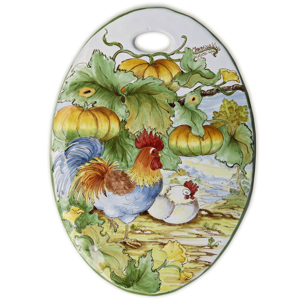 """""""Rooster and pumpkins"""" – 2"""