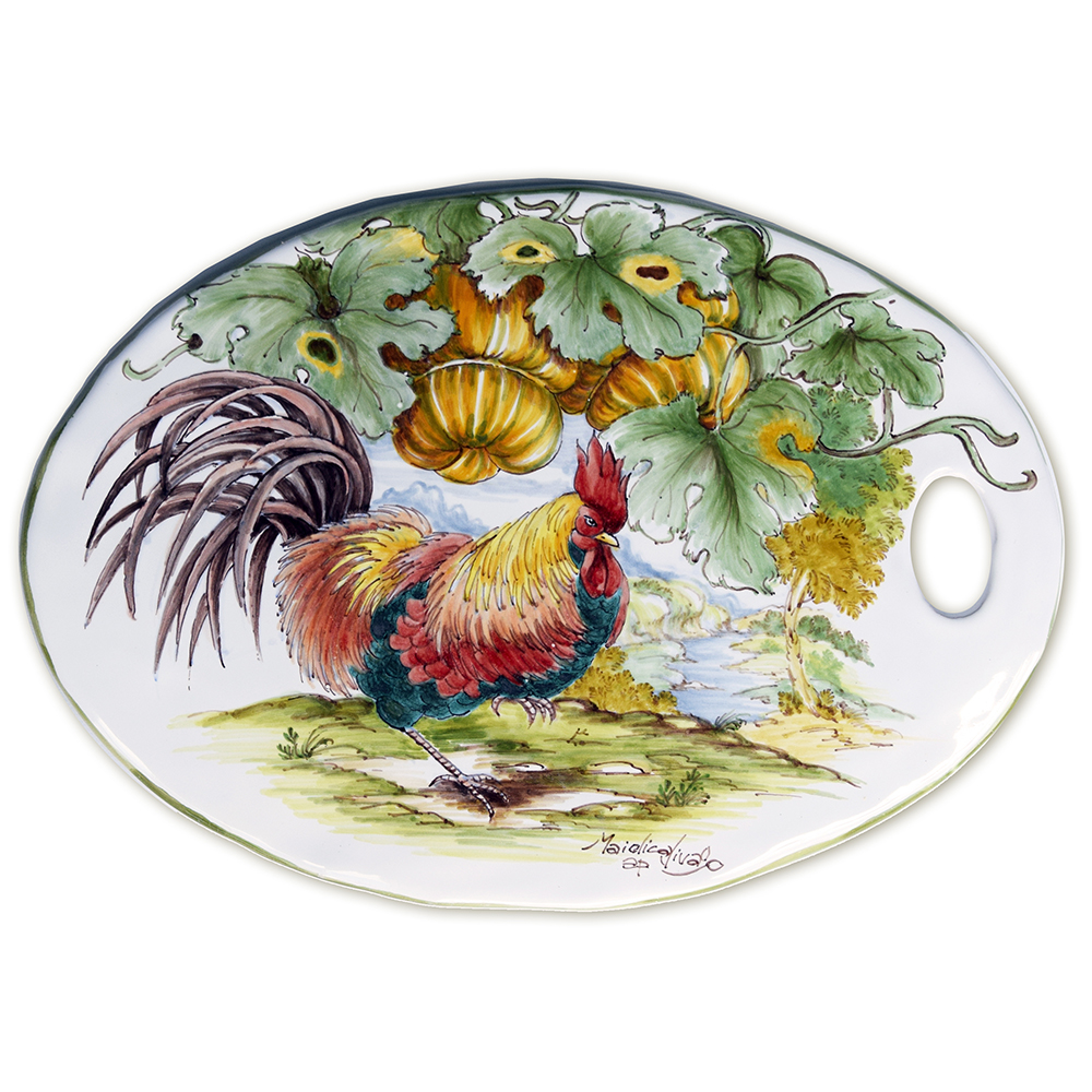 """""""Rooster and pumpkins"""" – 1"""