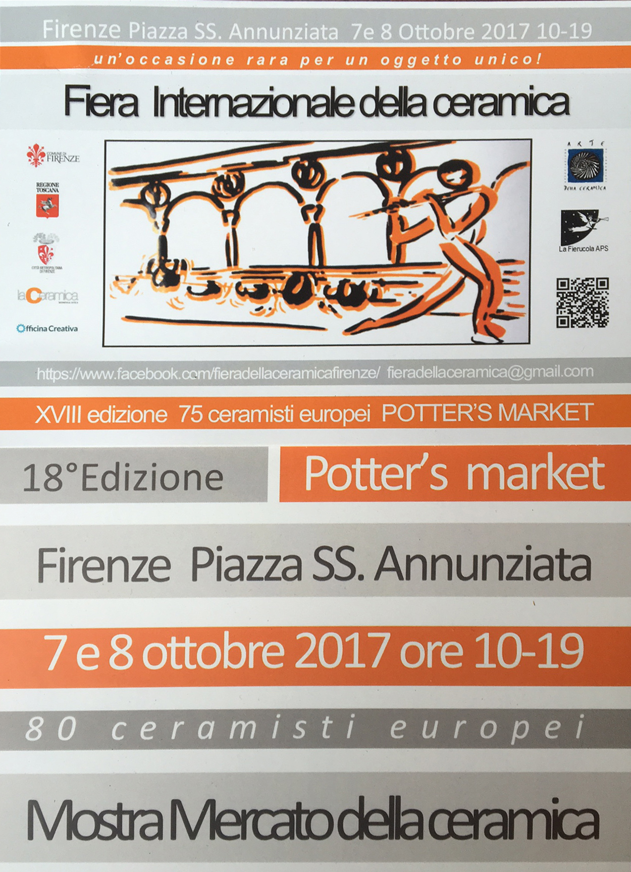 INTERNAtIONAL Ceramic Festival · XVIII EDItION - FLORENCE, PIAZZA SS. ANNUNZIATAOCTOBER 6—7, 2017LEARN MORE