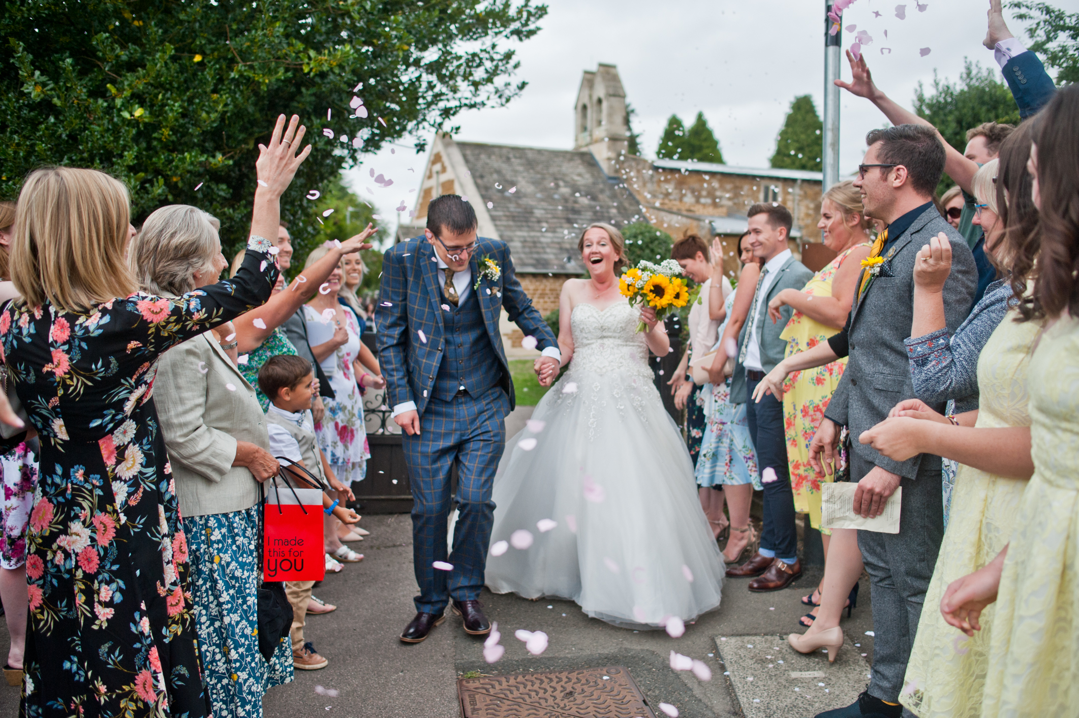 Confetti Shot! A highlight of the day ( photography wise anyway ) and a great chance to catch reaction shots.