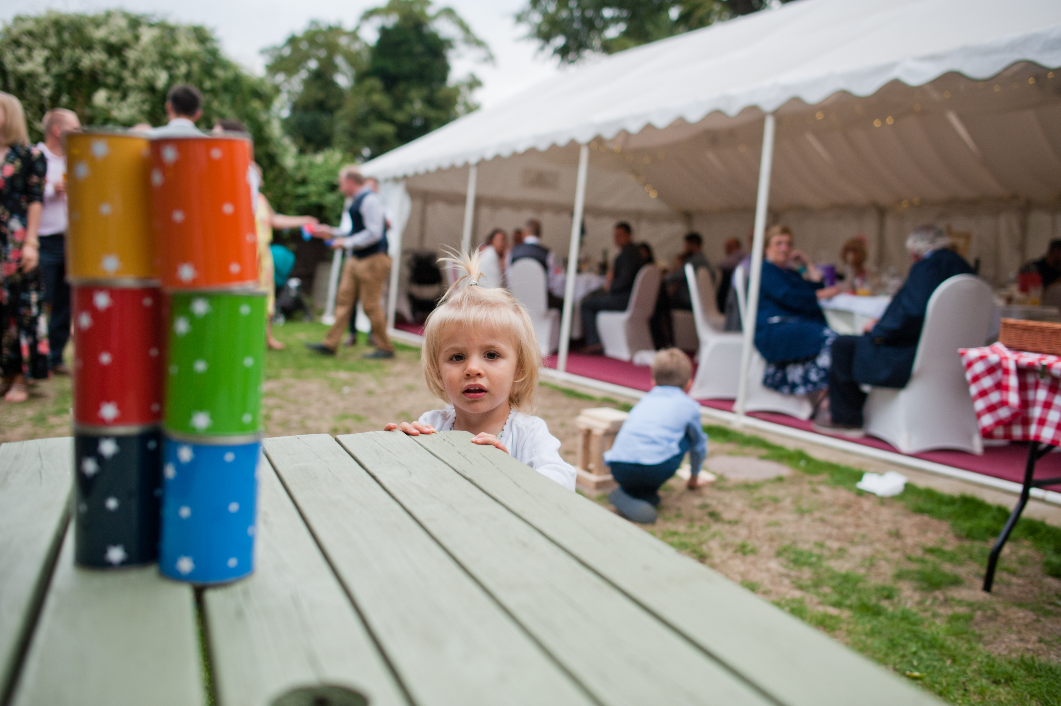 Garden games for weddings get people up and moving and having a good time. They go down very well with kids too.