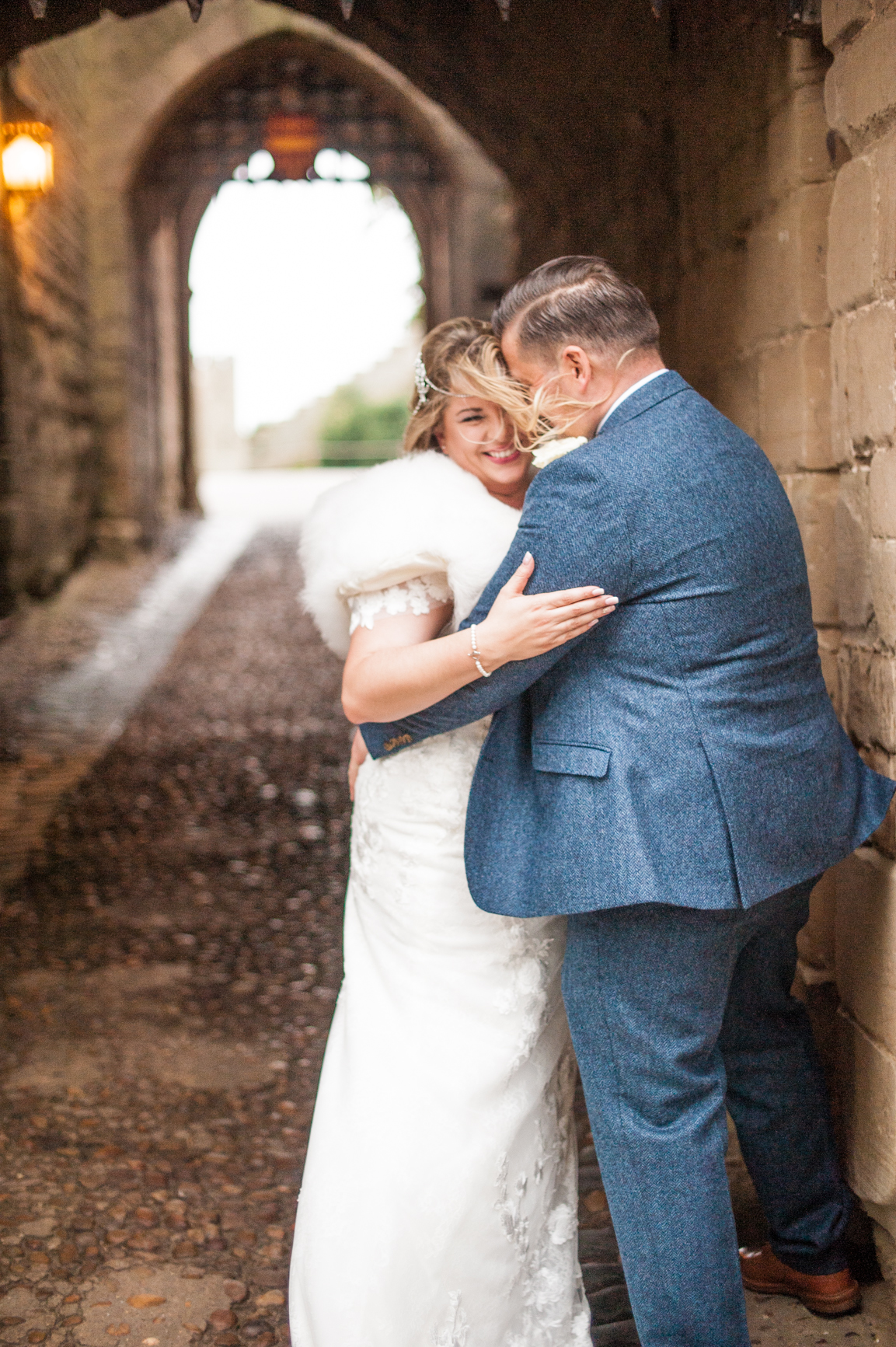 Andy and Terri at Warwick castle for wedding photos