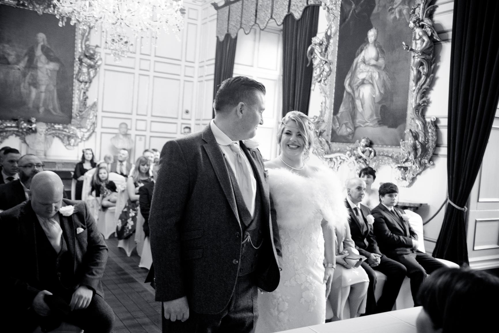 Wedding ceremony at warwick castle. Wedding Photography