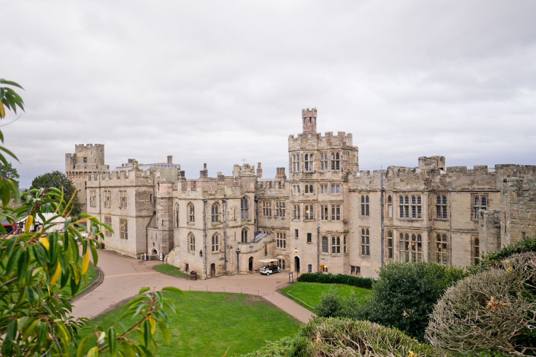 Warwick Castle wedding photography as viewed from the ramparts.