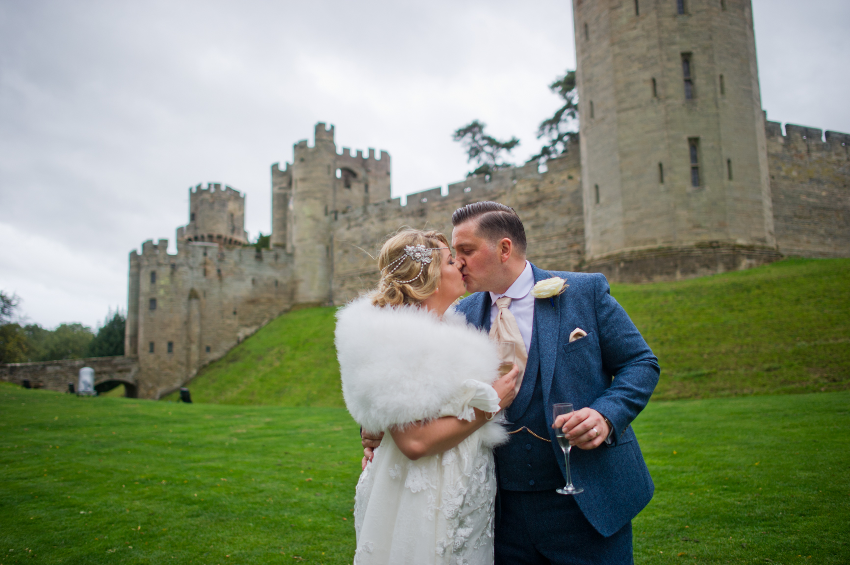 Terri and Andy outside of Warick Castle.