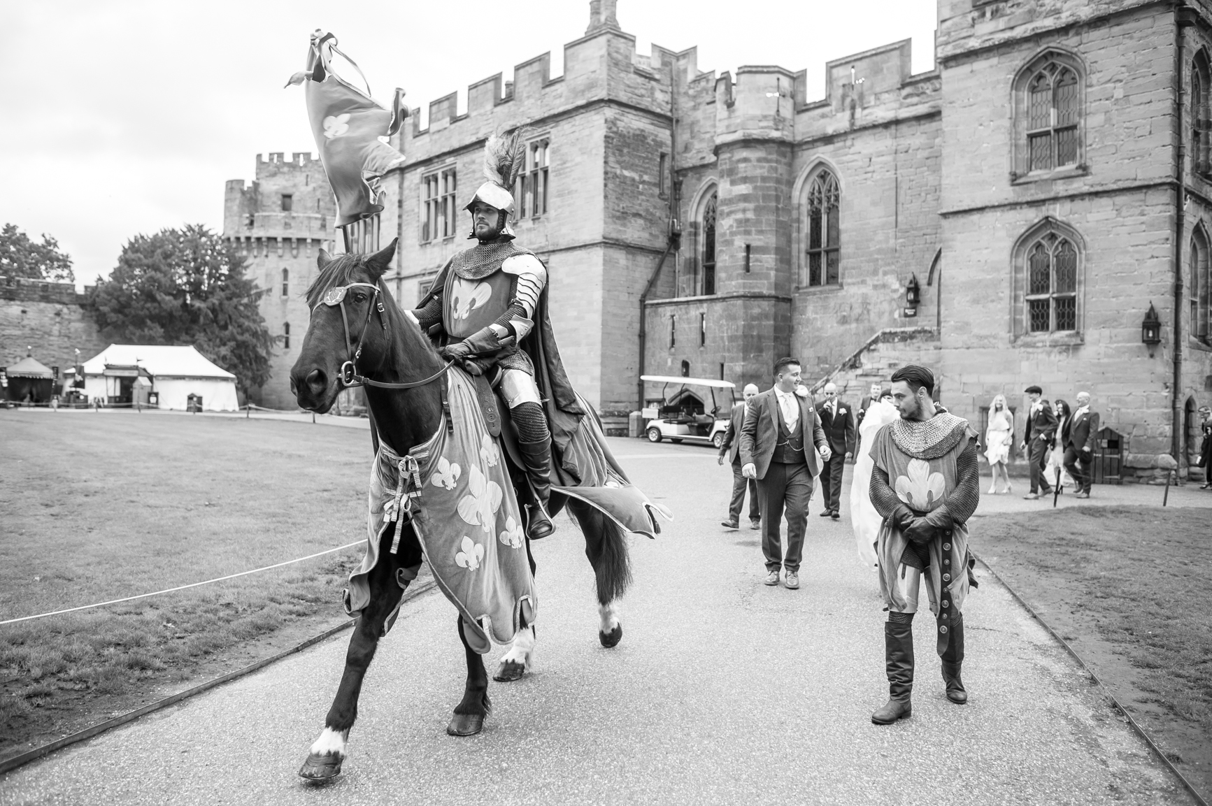 Knights in Shining Armour, They led us through to the drinks reception.