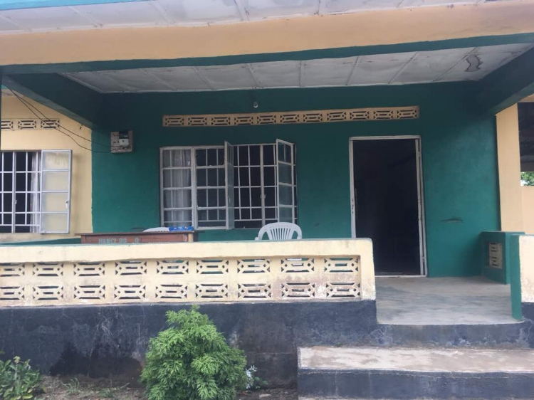 The veranda at the Street Child compound, Bo