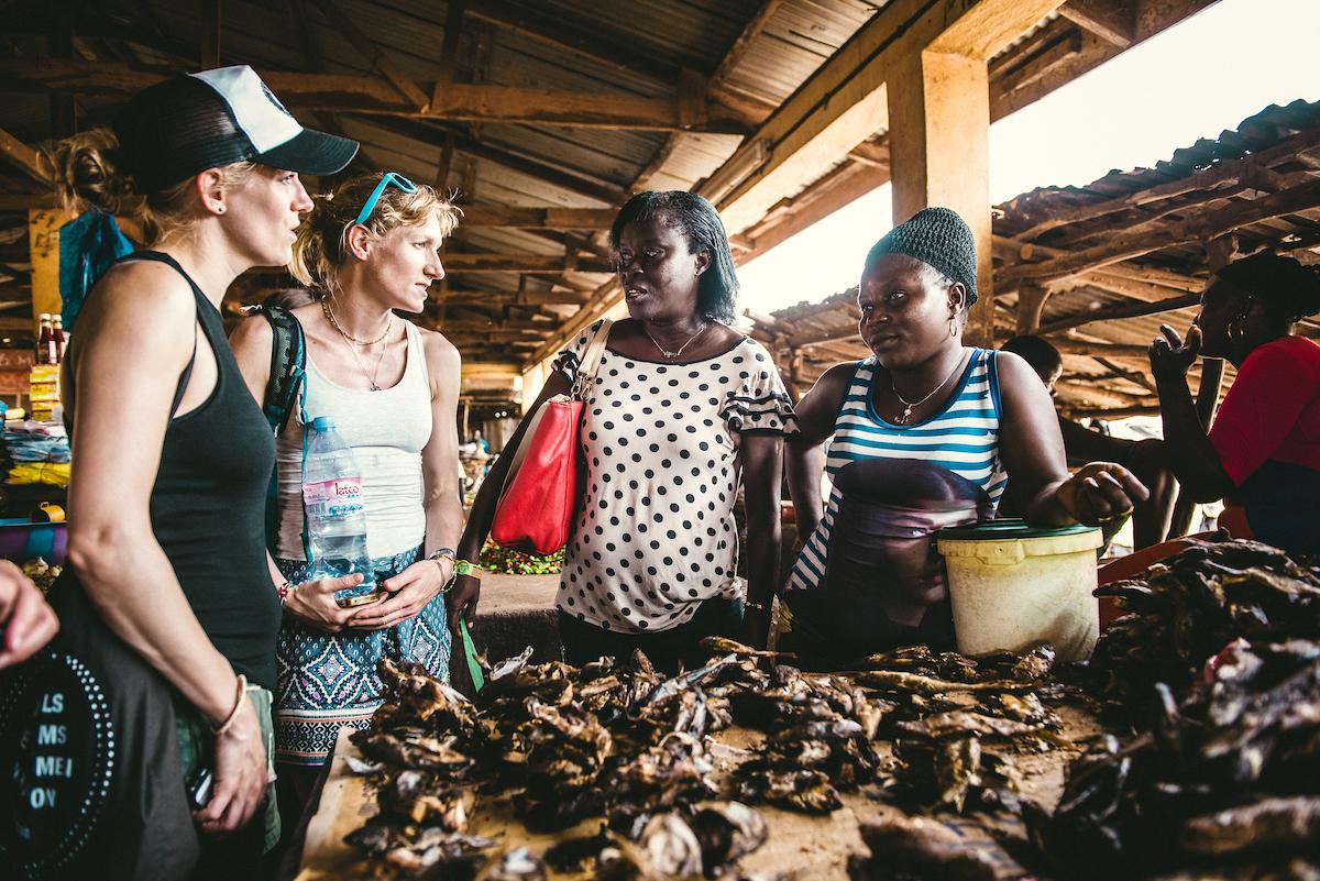 Market stall owner, Sierra Leone