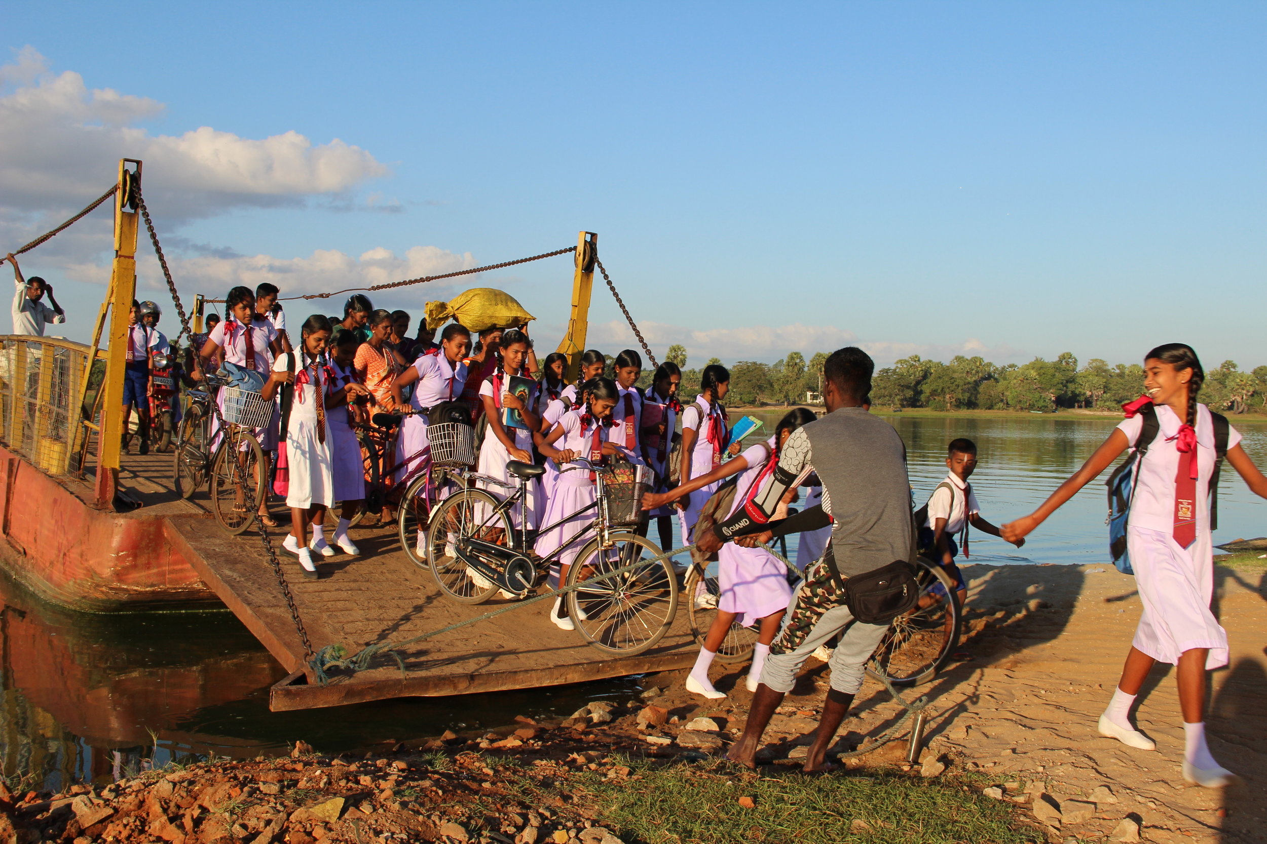 Students coming to school in Santhiveli by ferry .jpg