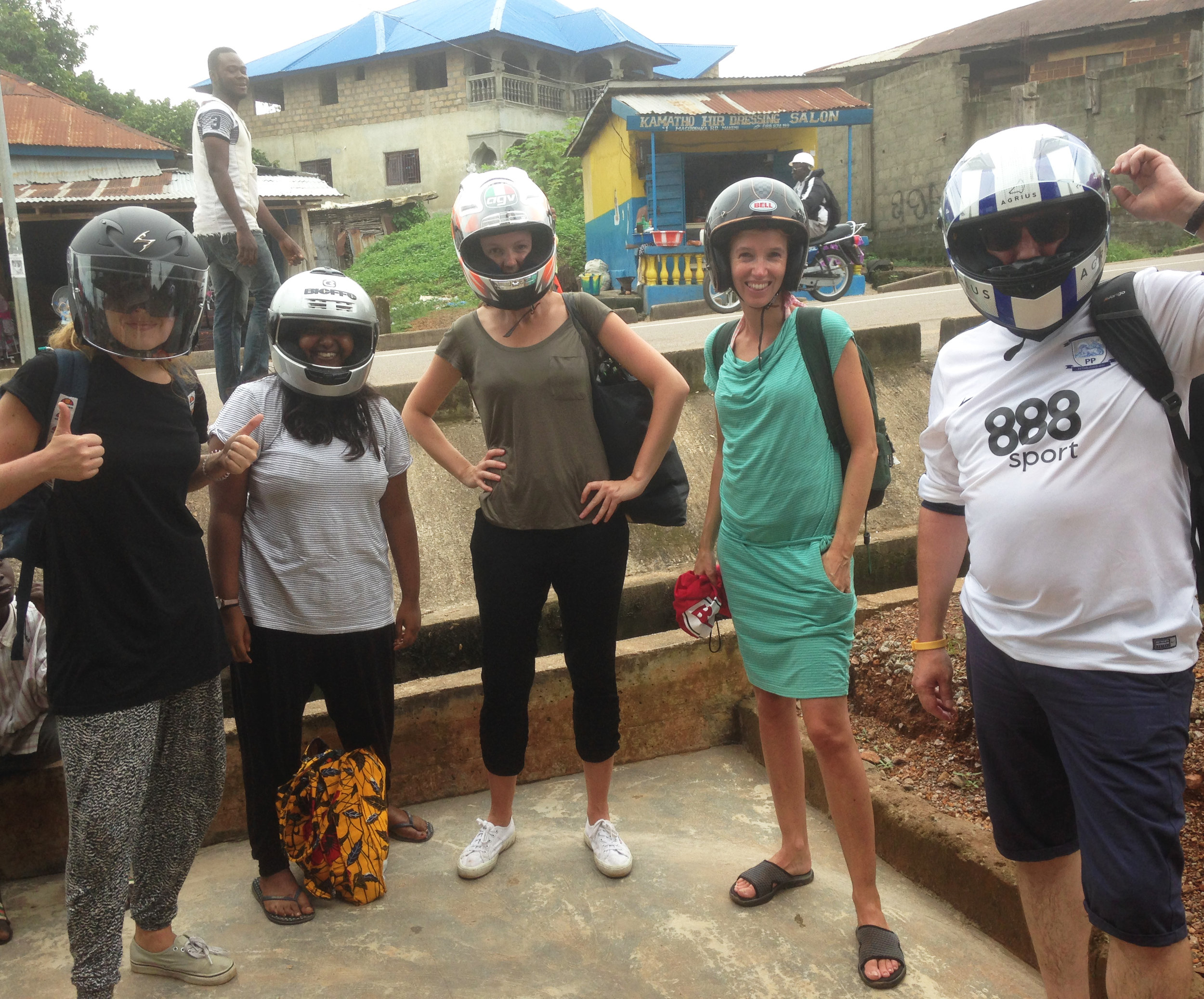 Team moped trip, Sierra Leone