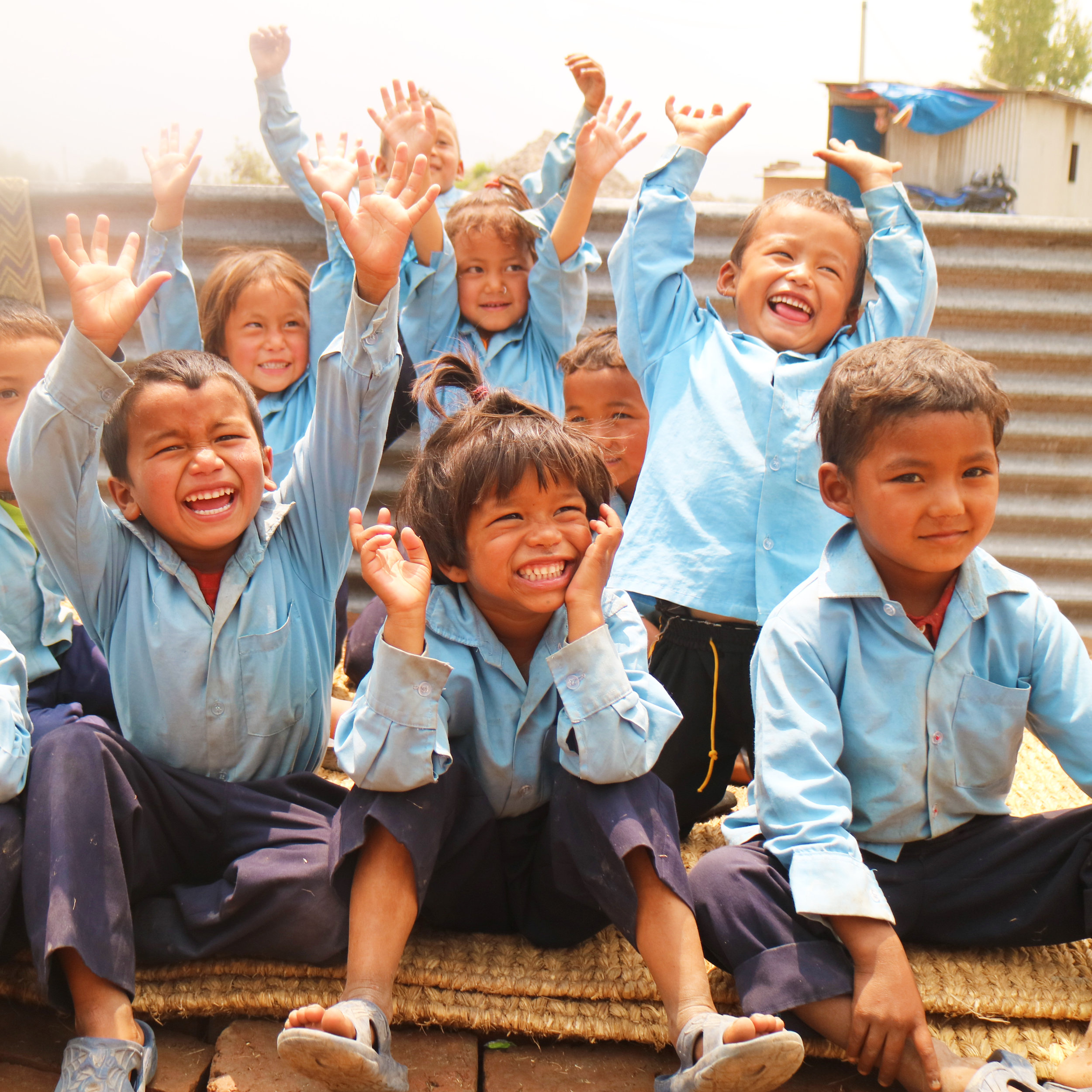 Children at the Brick Factory school, Nepal