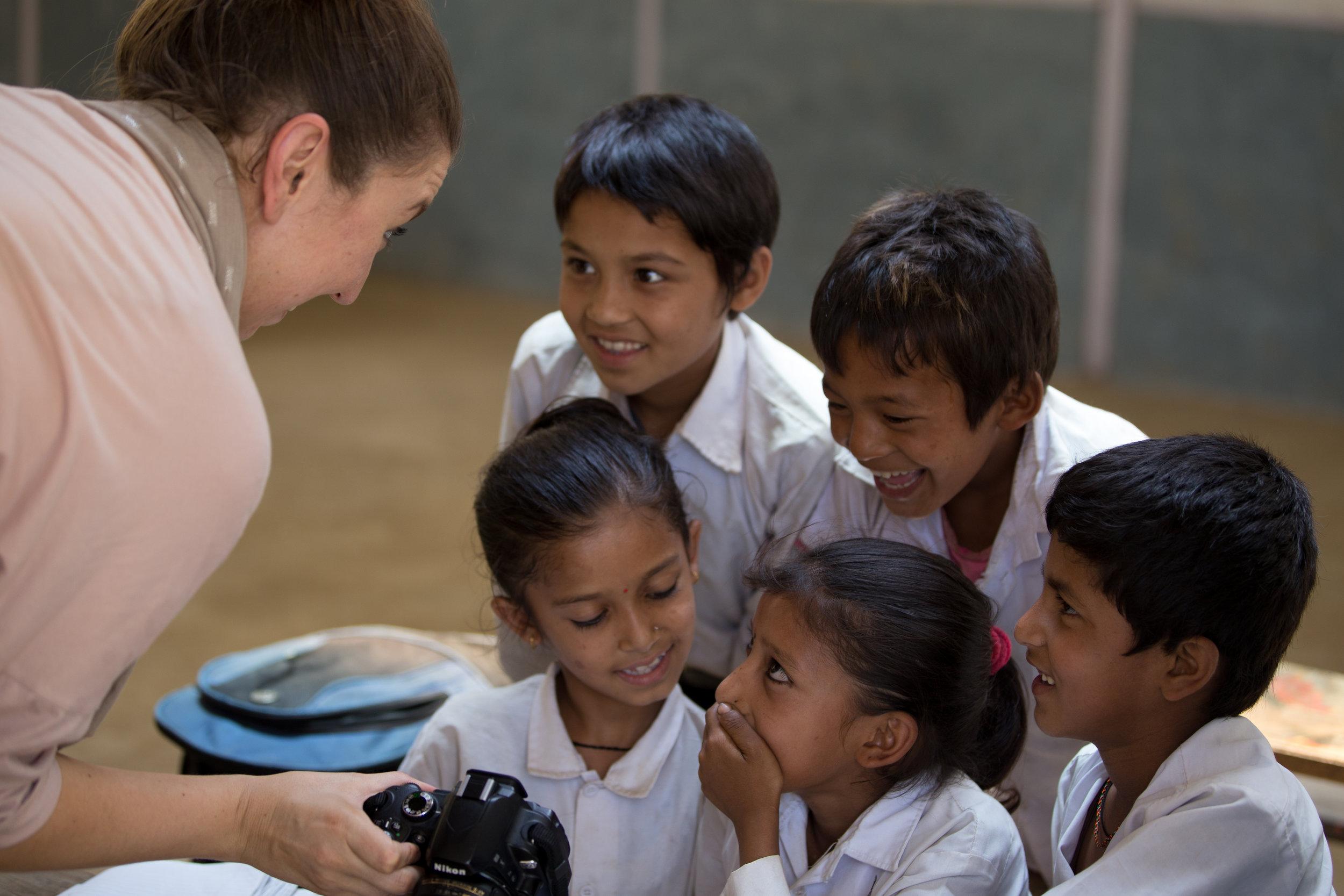 Andrea in Nuwakot, Nepal
