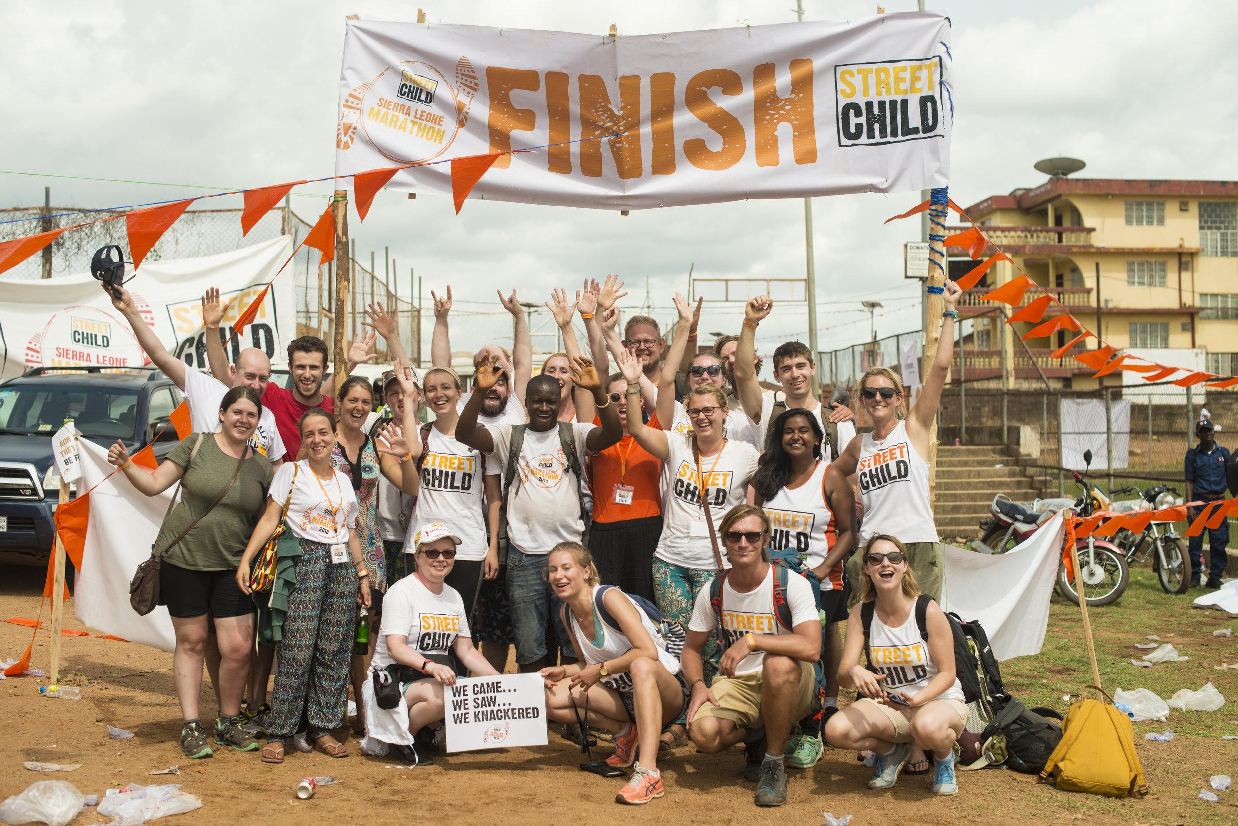 Sierra Leone support crew 2018