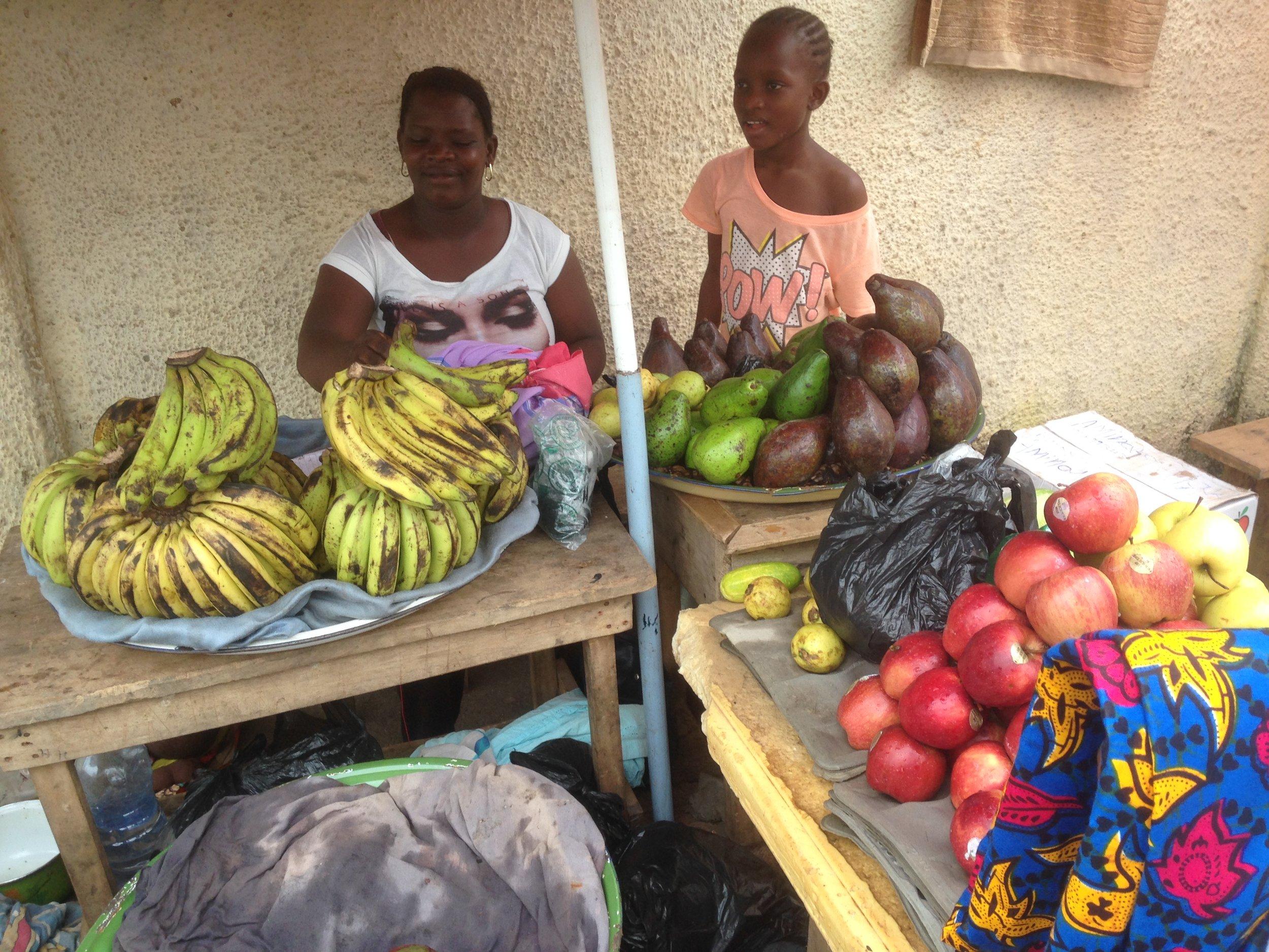Market stall, Makeni, Sierra Leone