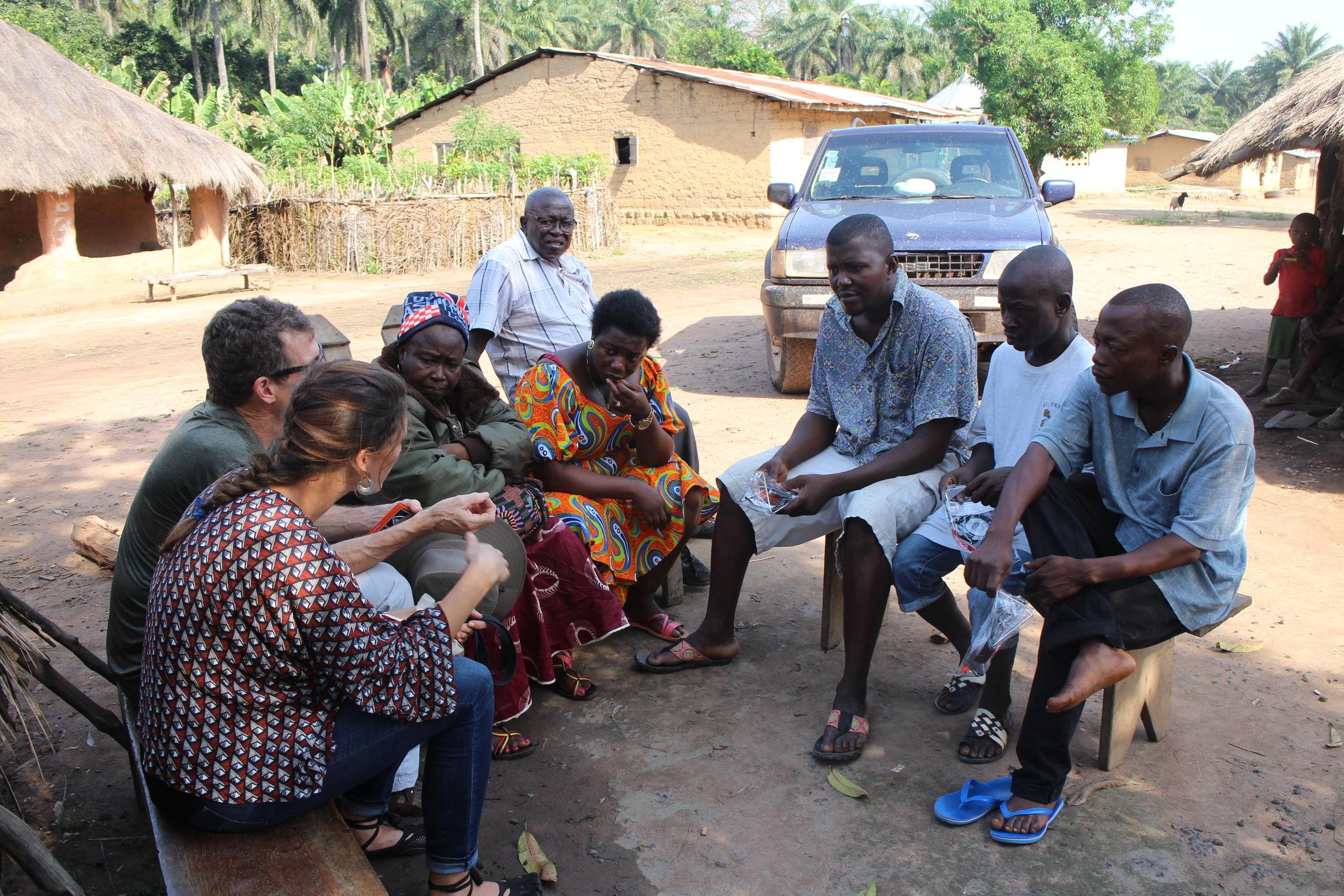 Talking to the teachers, Sierra Leone