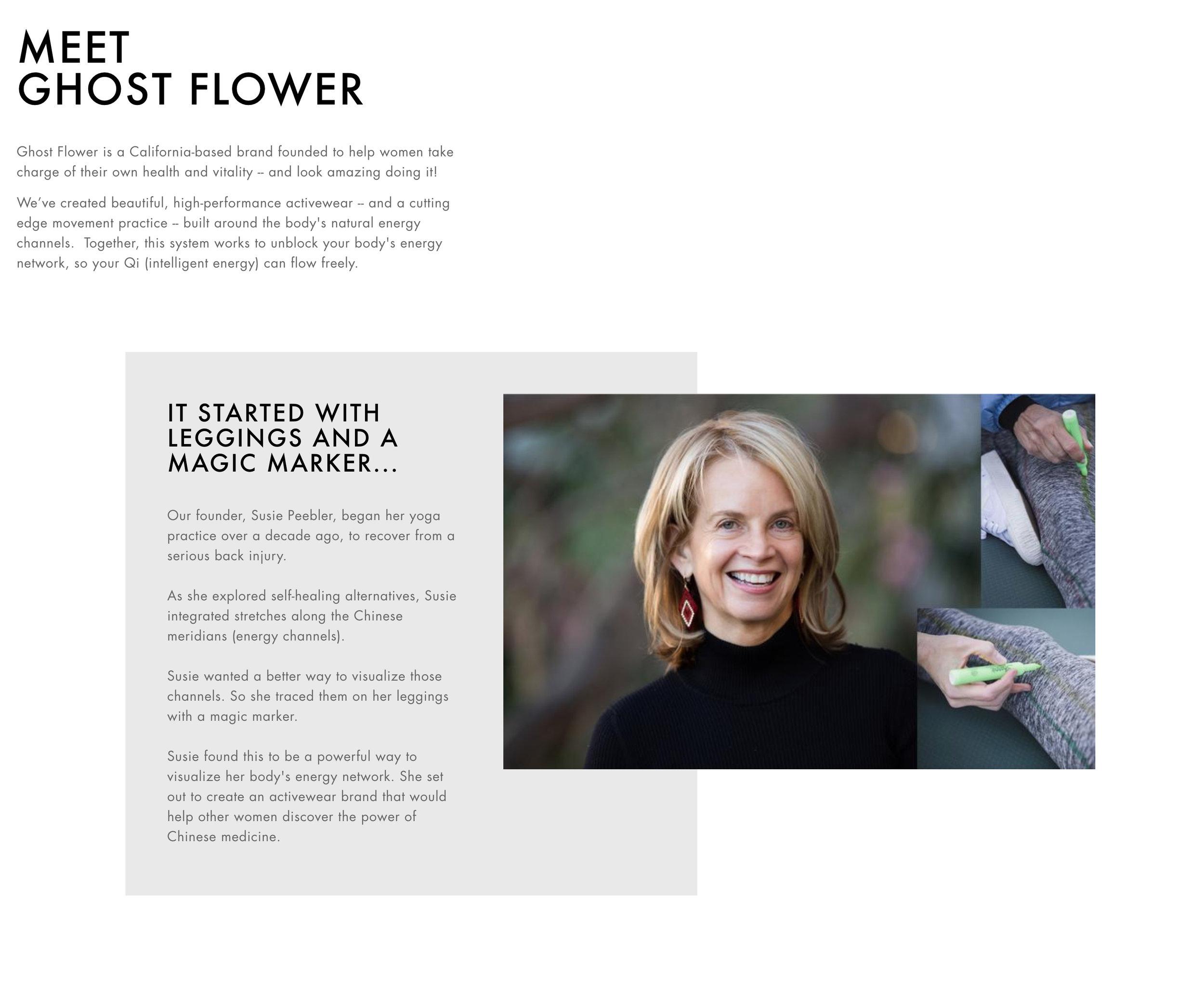 Ghost Flower Company Website