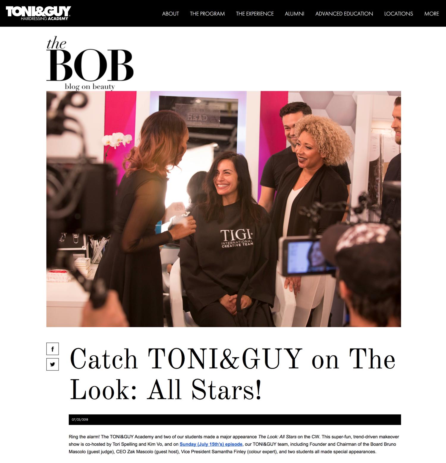 Toni & Guy Academy Blog