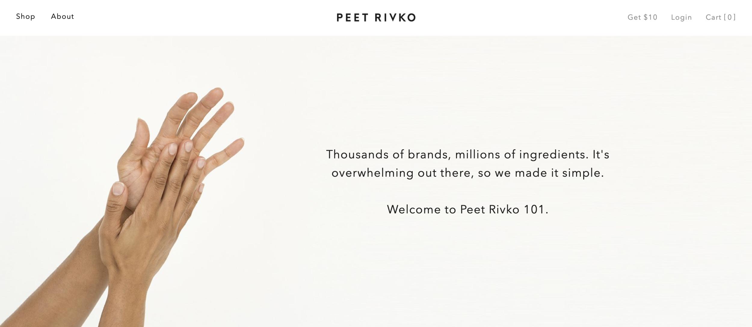 Peet Rivko 101 Website