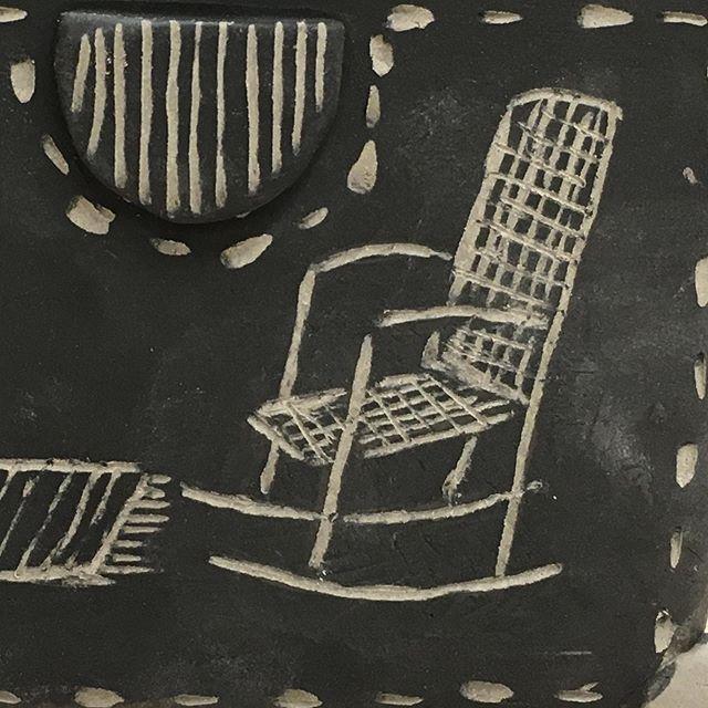 sgraffito rocking chair & rug