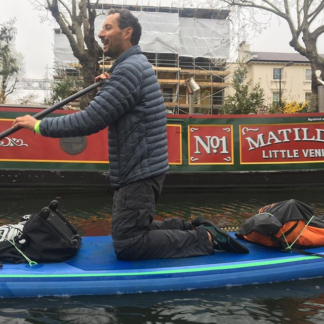 🙌 Weekend 🙌 Weekend 🙌 Weekend 🙌  An excited @mirkobuzzelli exploring regents canal this morning.  #sup #regentscanal #suplondon #itstheweekend