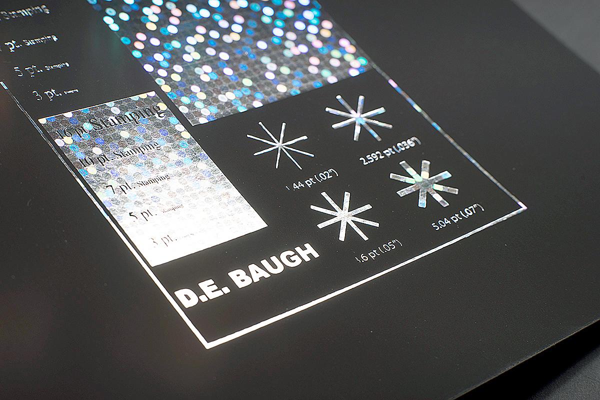 D E Baugh Foil Sample