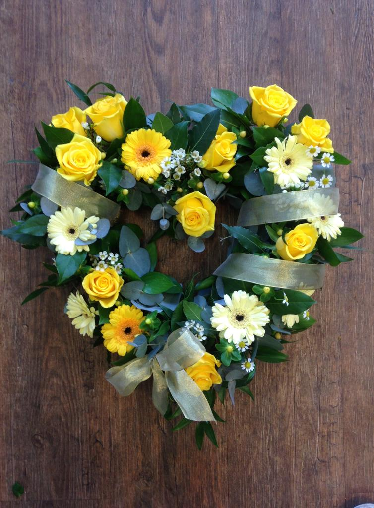 Small Yellow Open Heart  £50