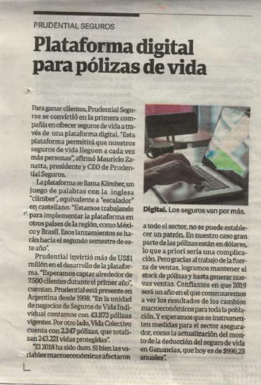 Plataforma digital para pólizas de vida