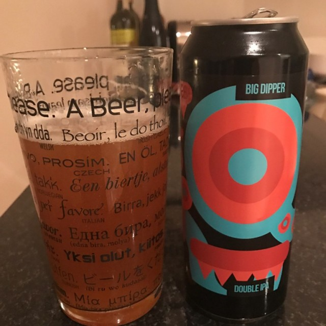 Big Dipper -Double IPA 8.3%//Magic Rock Brewing x Cloudwater - One of my favourite breweries combine with another brewery that are the masters of one of my favourite styles of beer - a match made in heaven for Hedges' tastebuds. A massive DIPA from Magic Rock and Cloudwater in tallboy cans. Need I say more?