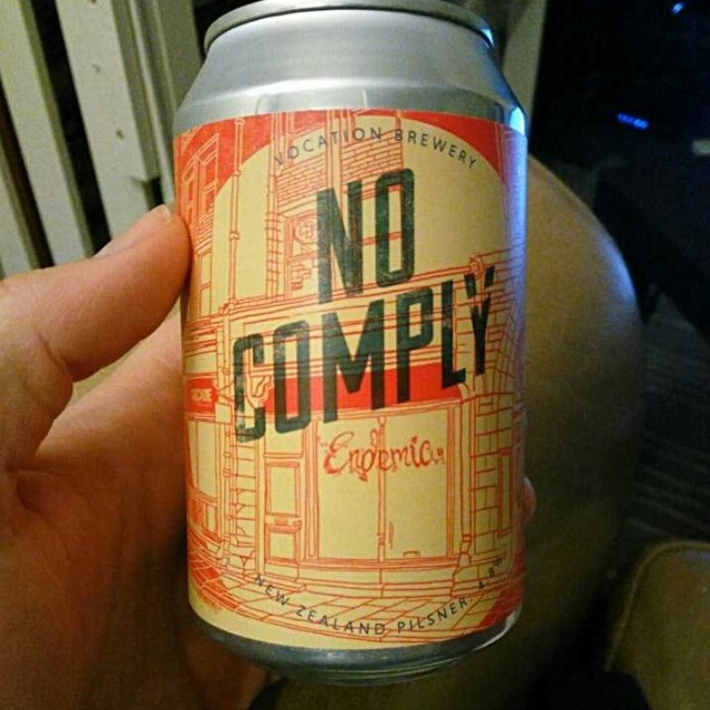 No Comply -Pilsner 4.8%//Vocation - I picked this up from a Yorkshire Brewing Co. stand on Greenwich market. I've enjoyed other Vocation beers and love their distinctive can designs, so I was keen to try this one. A refreshing, zesty beer with lemon and lime flavours.