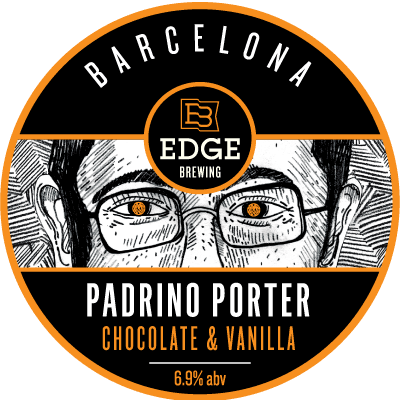 Padrino Porter Chocolate & Vanilla - Porter 6.9% //Edge Brewing Barcelona - Probably the best beer I had in Madrid - essentially tasted like chocolate milk and totally did not feel like it was nearly 7%.Our hype man below will likely gush about it more than me as he immediately started fist-pumping and shouting after his first sip.