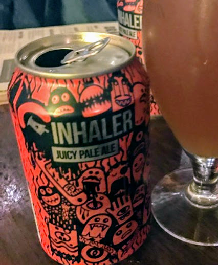 Inhaler - Session IPA 4.5% //Magic Rock Brewing - Great beer, strong flavours. Reminded me of of Brew Dog's Elvis Juice but more of a session beer.I will definitely be making this one a regular.