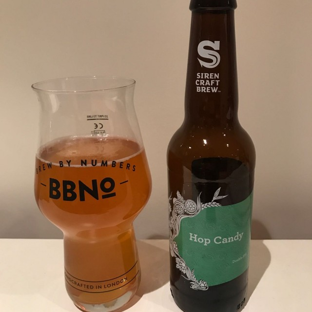 Hop Candy - Double IPA 9.2% //Siren Craft Brew - It appears to be DIPA season, at least for Hedges and this big, boozey edition from Siren ranks up there with one of the best. The notable thing in this was how limey it was and it worked very well alongside the tropical fruit flavours and bitter finish.Definitely not a session beer!