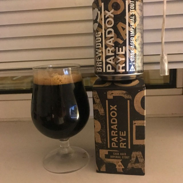 Paradox Rye - Imperial Stout 15% // BrewDog - BrewDog is to impy stouts what Cloudwater are to DIPAs. Some of the best imperial stouts I've had have been courtesy of BrewDog and this one was no different. A new version of the Paradox series, this time aged in rye whiskey casks and for the first time sold in cans. To say I'm a novice whiskey drinker is an understatement but I'm definitely getting an appreciation for it through the medium of whiskey cask aged beer. A complex beer, this has everything you want from an imperial stout; bags of coffee, chocolate and molasses before finishing with the warmth from the whiskey cask. A great beer for a night-cap.