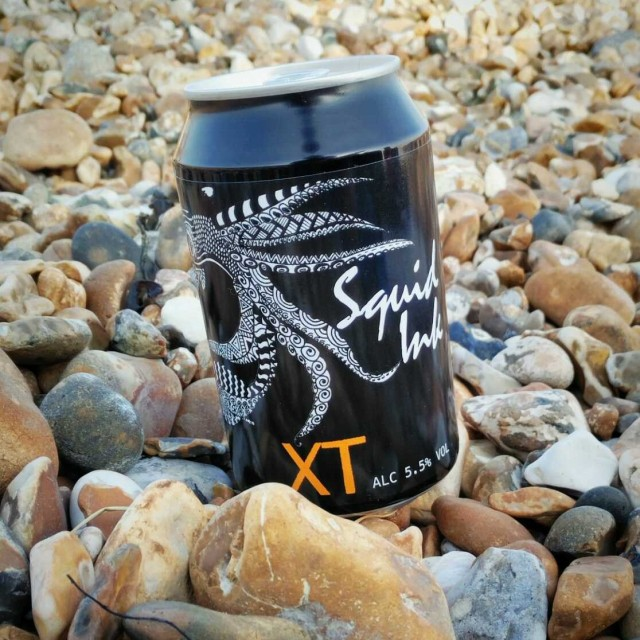 Squid Ink IPA - Black IPA 5.5% // XT Brewing Company - Picked up from local bottle shop, The Beer Musketeer, as part of a run for some beach beers. This isn't the usual type I would go for on a blisteringly hot sunny day but this Black IPA went down really well. Fantastically malty and really smooth. Also, aptly named for a drink to swig whilst staring out to sea.