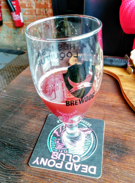 Framboise - Fruit Beer 3.6% // Kirkstall Brewery - What's this? A fruit beer? Get out of here with your pectin-based nonsense! This must be a first for Beer Voyage. Also sampled at Brewdog Southampton, this has to be one of the best fruit beers I've tried. This was ordered by my girlfriend and partner in crime for the day, who being a non-beer drinker (a what?), certainly enjoyed it. Framboise by Leeds based Kirkstall is bright raspberry-red, sweet and juicy in flavour with a little bit of sharpness to balance it out. Basically like an alcoholic fruit juice, highly recommended.
