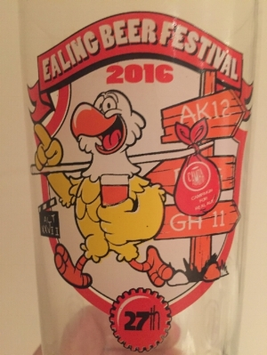 Ealing Beer Festival 2016 glass