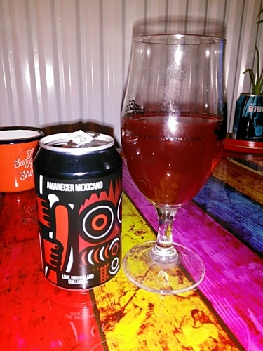 Amanecer Mexicano -  Sour Gose 5.8% // Magic Rock Brewing x Casita Cerveceria - The 'red' entry for the 2017 Rainbow Project and a collaboration between Magic Rock Brewing and Casita Cervecería. Amanecer Mexicano promises lime, hibiscus and chilli in a sour gose. This is an interesting one, I didn't get hibiscus (I'm not actually sure what it tastes like, to be honest) and the chilli is dry and subtle but it is packed with sour lime. This is probably a bit over the top for a lot of palettes but I found I really enjoyed the sour-chilli kick. It is vibrantly red in colour, a perfect entry for the Rainbow Project.