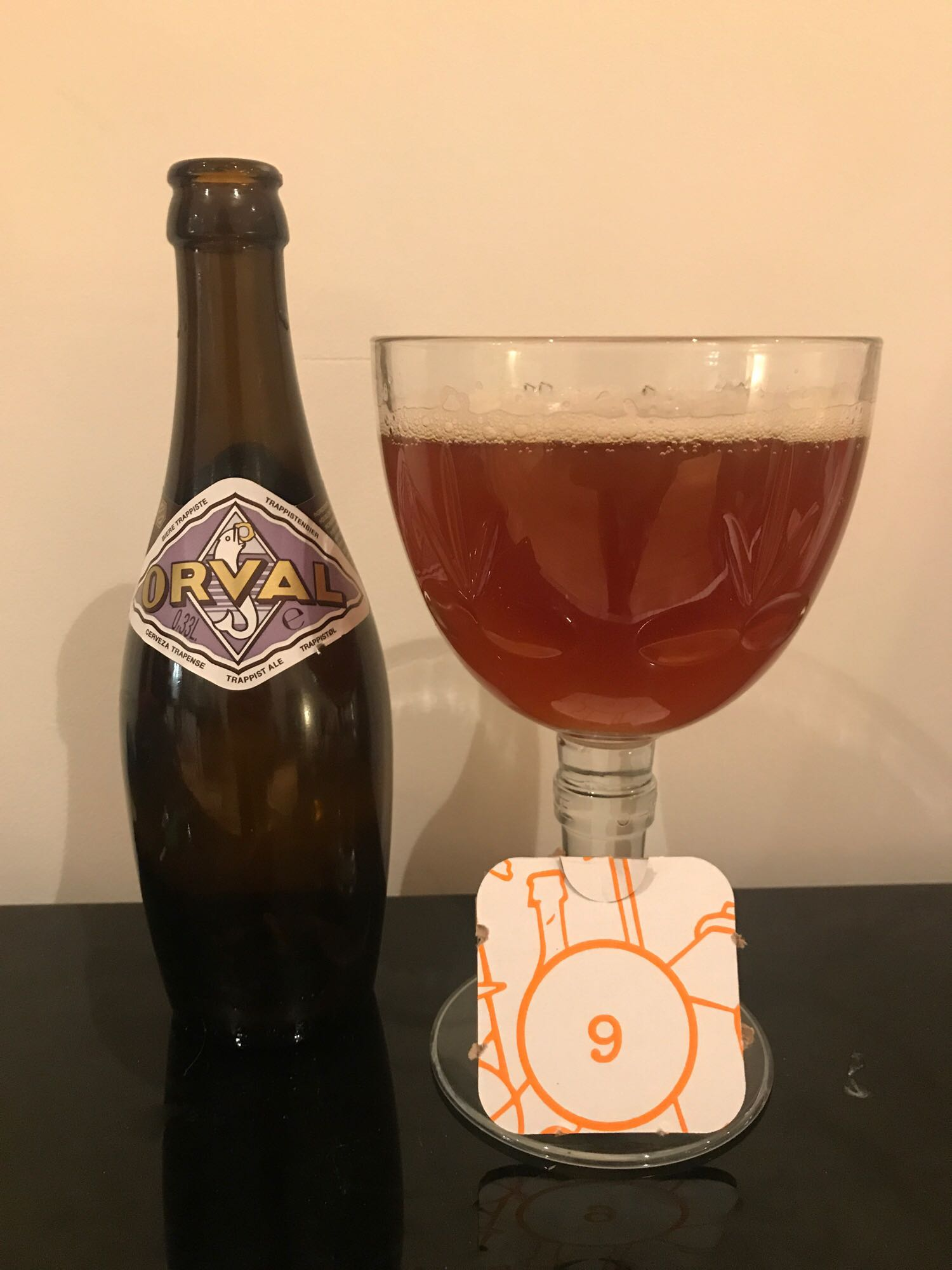 Day Nine: Orval - Belgian Pale Ale 6.2% // Brasserie d'Orval - I first had this beer back in 2014 in Bruges (it's a fucking fairytale town, isn't it!) and remember enjoying it. I've read many a thing about aging this beer and the taste developing differently over time with varying opinions that it's best 6 months, 12 months, 18 months or even 2 years after it's been brewed. This one was brewed this year and, whilst I would've liked to have aged it, the advent calendar demanded it be drunk. I dutifully obliged but sort of wish I hadn't. It was fine, not quite as good as I remembered, but think it may have benefited from aging a little longer.It's your typical belgian pale ale with some added funk and it does taste very fresh but the flavours are quite muted. Ah well, I will definitely pick up a bottle or two to experiment with aging.