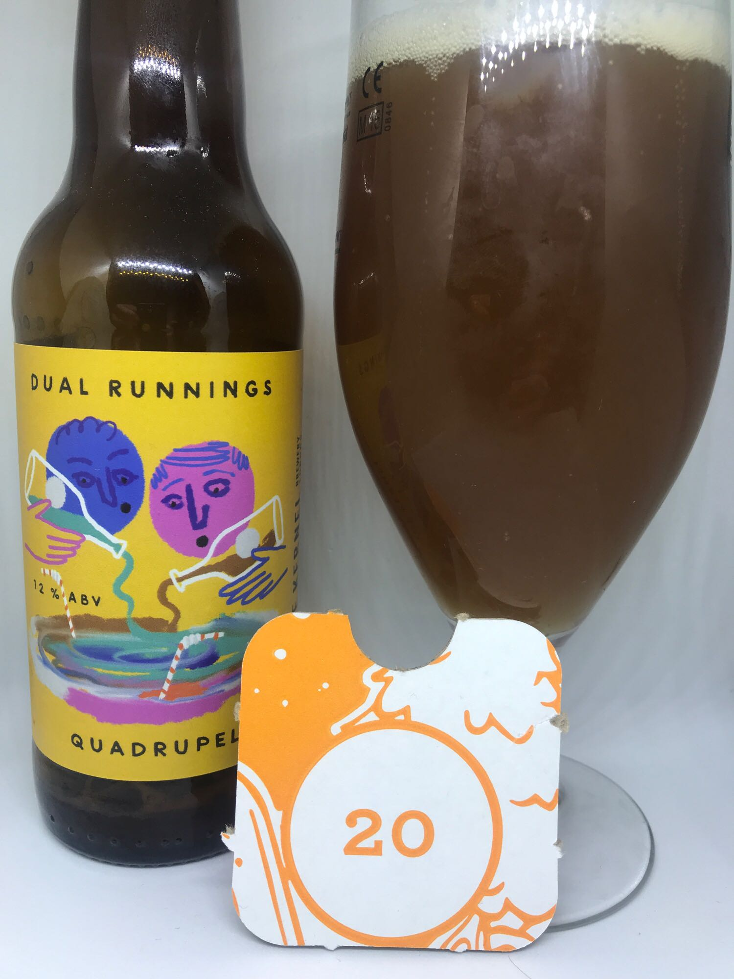 Day Twenty: Dual Runnings - Quadrupel 12% // Partizan Brewing x The Kernel Brewery - This beer has an interesting concept around it so rather than explain badly myself,  I've taken it straight from the horse's (brewer's) mouth: