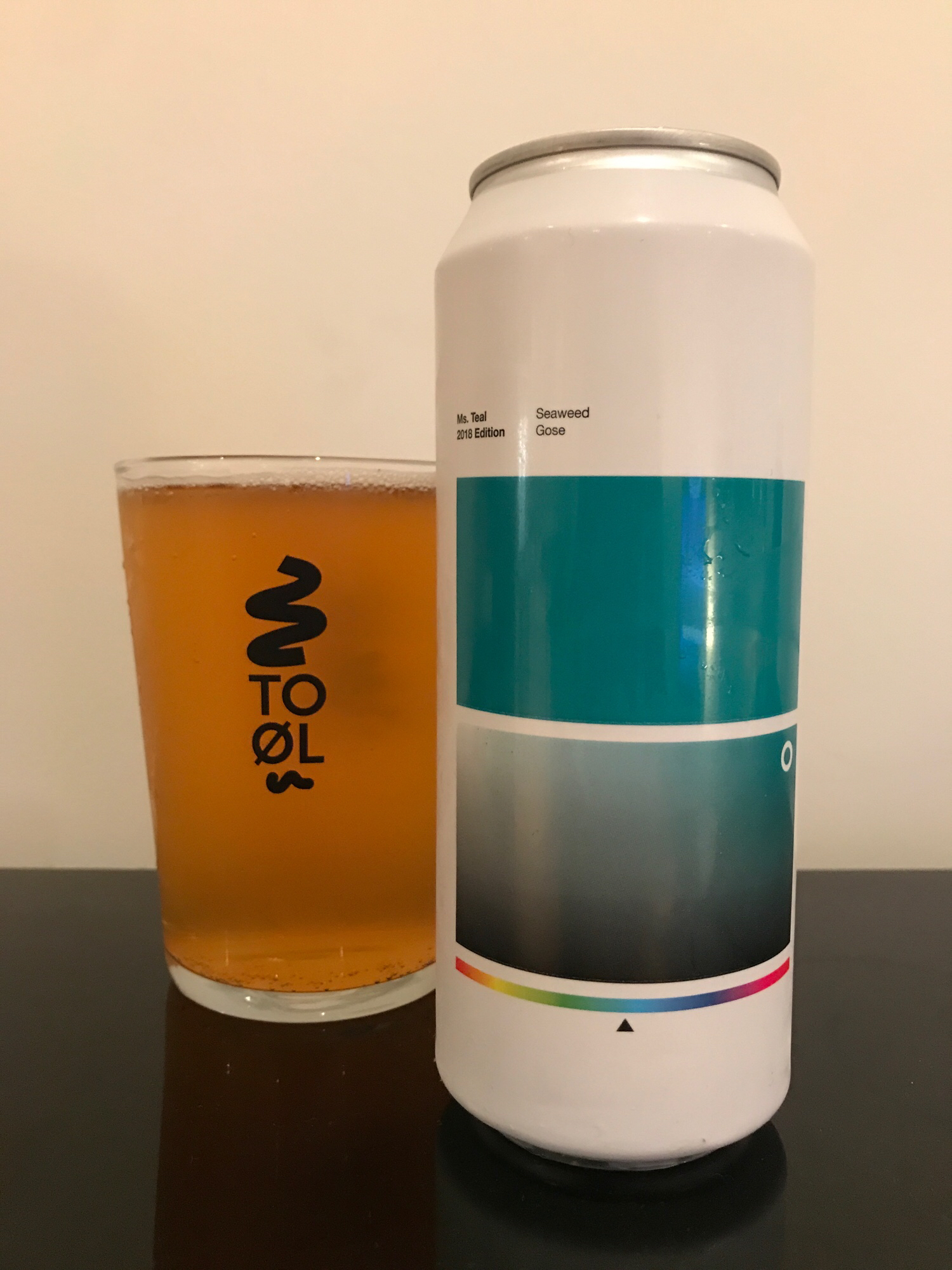 Ms. Teal // Seaweed Gose 4.5% - Expectations: Can I shock you? I've actually had a sea-based gose before. The green beer in 2016's Rainbow Project. 2016 me was not a fan at all but I've embraced sour beer like a long lost relative and feel slightly more optimistic for Ms. Teal. Saltiness is to be expected in a gose so I'm hoping the seaweed doesn't make it super brackish. To Øl made one of the first gose beers I ever tasted (Gose to Hollywood) which really opened my eyes to sours so I hope this is equally as good as that.Reality: Bang on with this tart little bastard. It's light and salty and sour and everything a gose should be. I thought it might be overwhelmingly salty but it's really well balanced. I've had a lot of sours over the last few years and this is right up there as one of the best. It just does everything it should very well and doesn't try to be anything more than the sum of its parts.I had always pegged To Øl as a brewery that made really good pale ales and imperial stouts but I'm going to have to add sours to that list now.