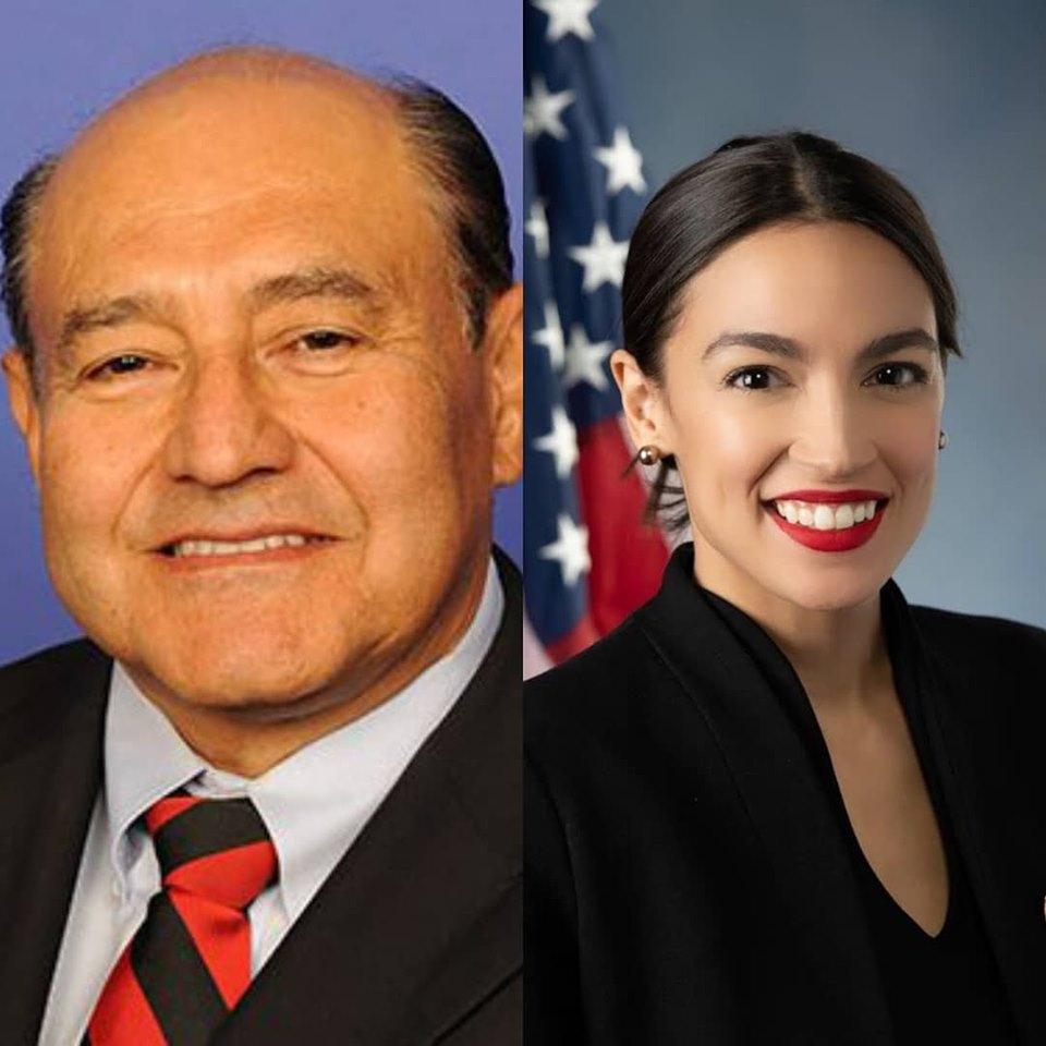 Rep. Lou Correa (D-CA) and Rep. Alexandria Ocasio-Cortez (D-NY)