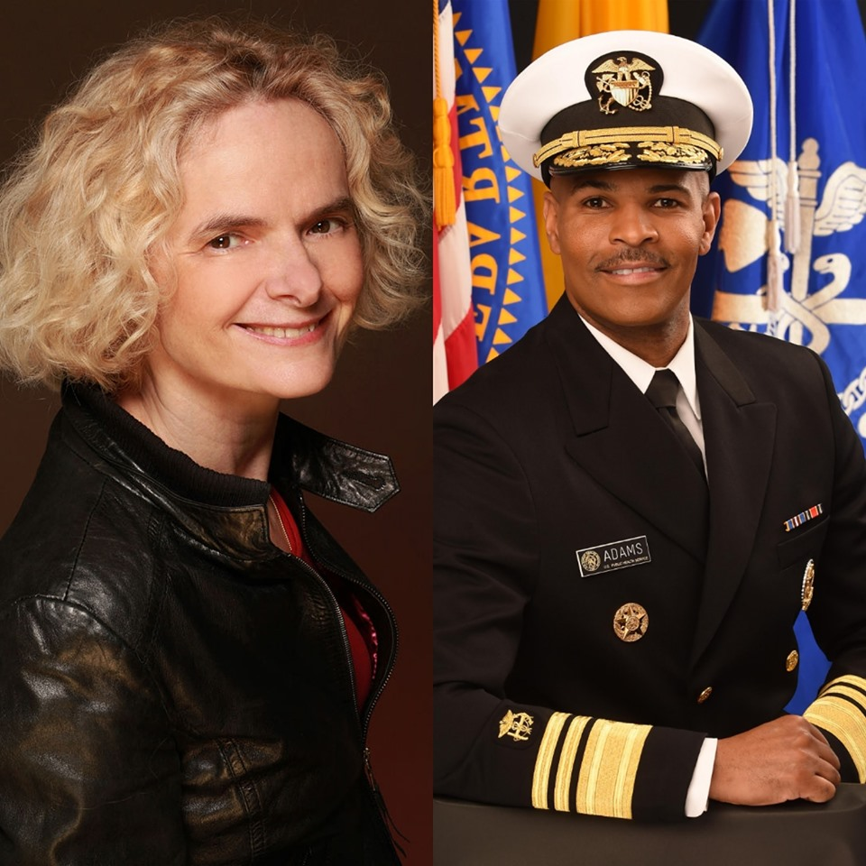 National Institute on Drug Abuse Director Nora Volkow and U.S. Surgeon General Jerome Adams