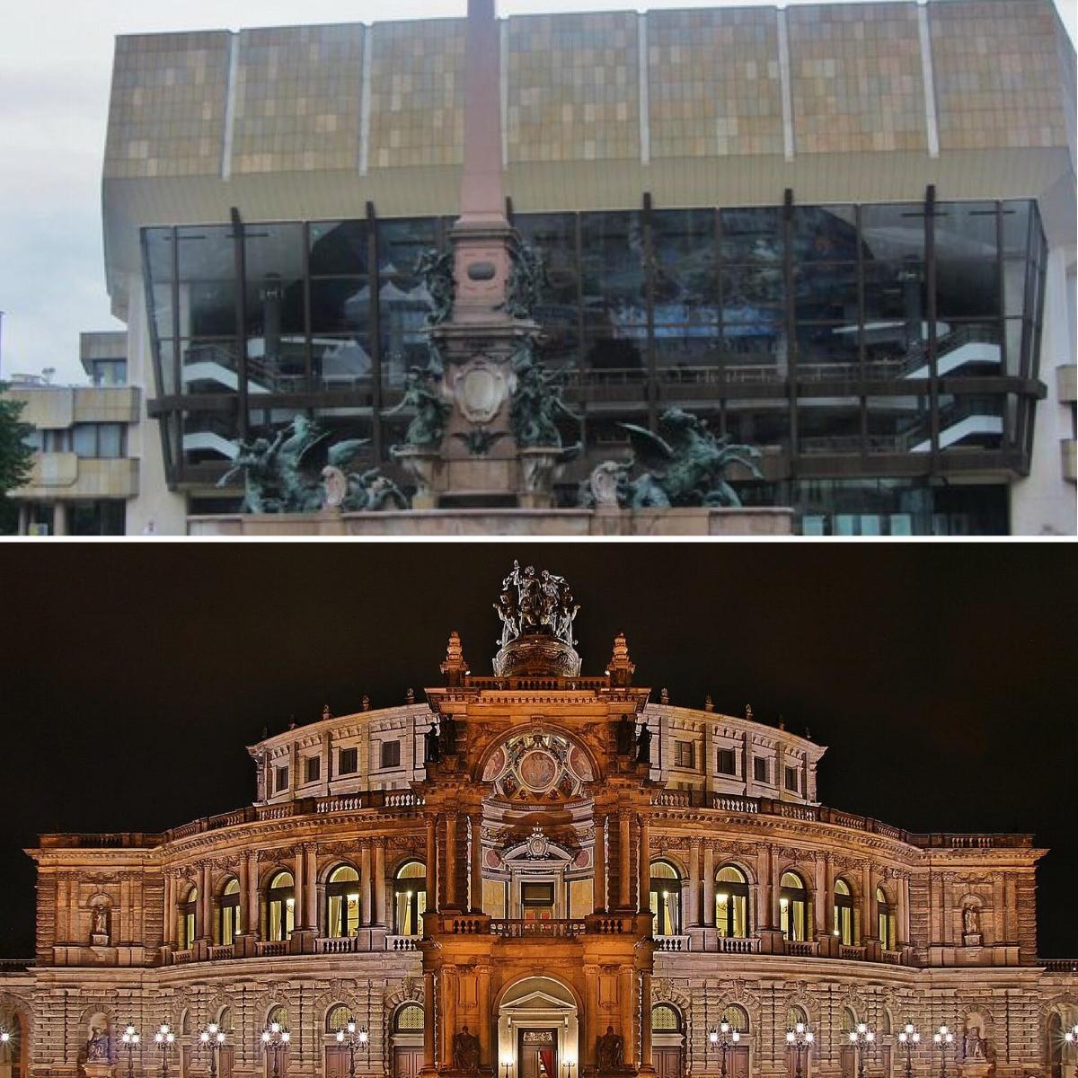 Gewandhaus (Above) and Dresden's Concert Hall (Below)