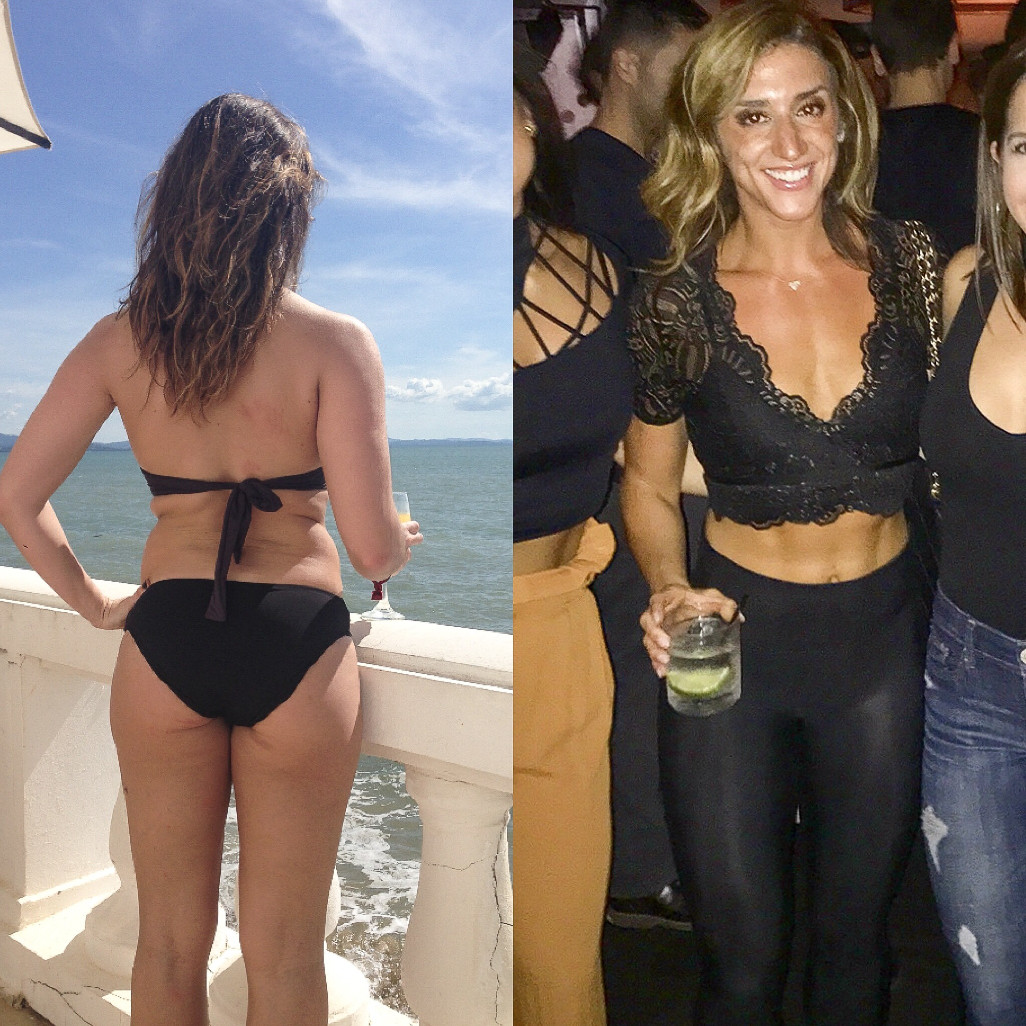 2014 --> 2017    Weight difference: 5 pounds! (that right there should tell you how little weight matters!) holding drinks in both pictures :/ LOL - balance :)