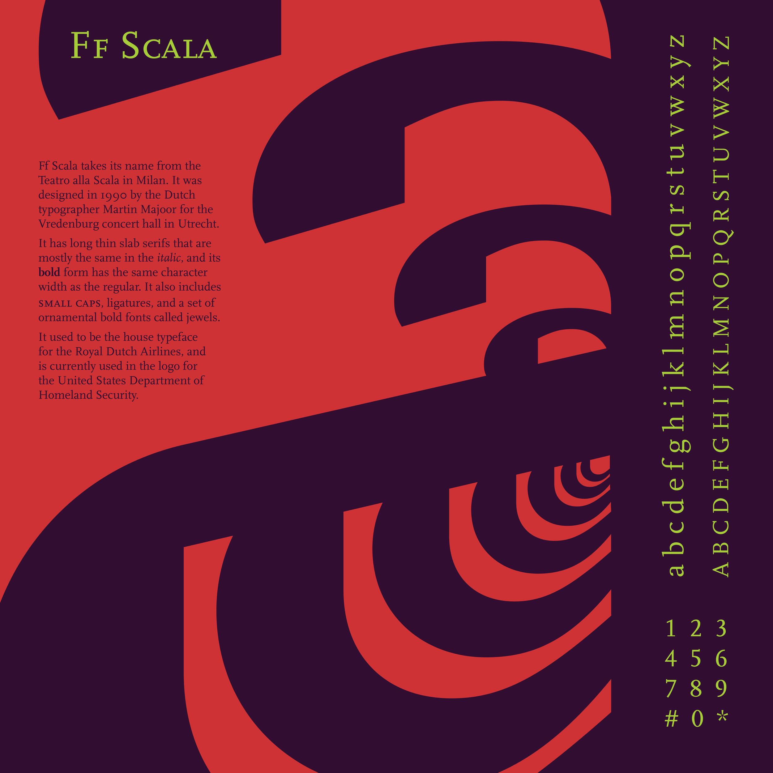 """Type Specimen Poster, 16""""x16"""""""