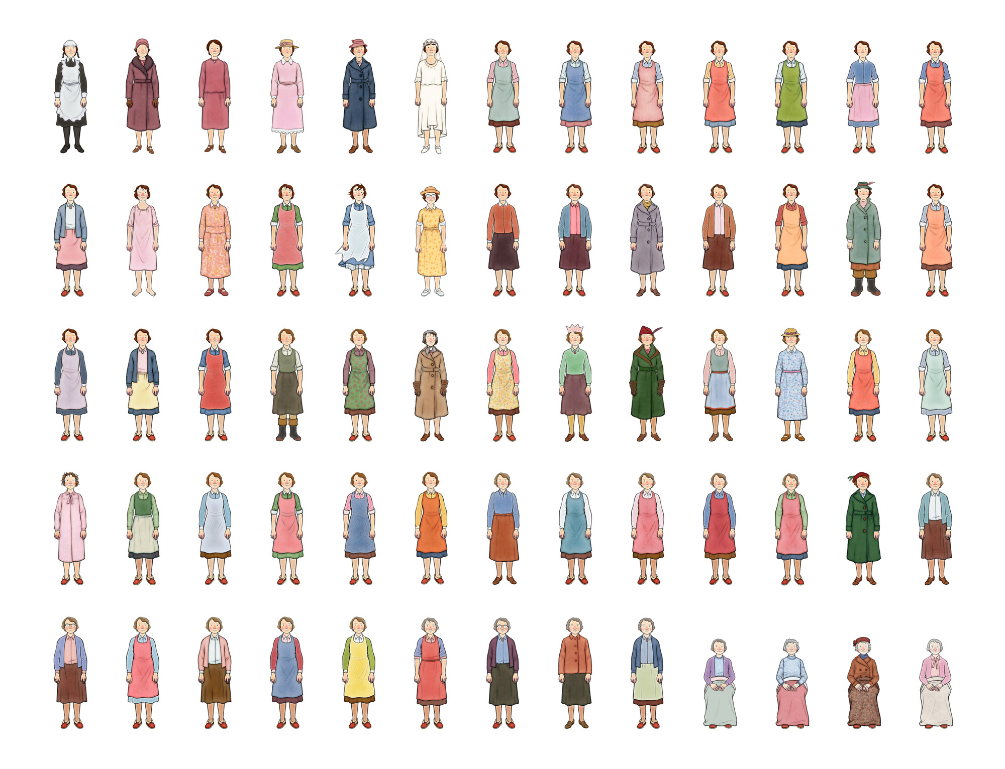 Ethel Colour Costume Designs