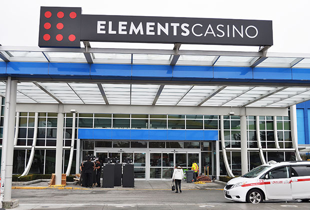 Elements Casino - Elements Casino is home to the best gaming, entertainment, and dining options in Surrey. Feel the excitement as you hit the gaming floor and choose from over 500 slot machines, or a variety of table games such as blackjack, baccarat, or roulette. Looking for live music? Enjoy a free concert from a cover band or local musician. If you're in search of a great local restaurant, we've got you covered. Between our buffet, lounge, quick service options, and group dining, we've got something for all tastes. So whether you want a great selection of casino games, a live concert, delicious food in a great venue, or all of the above, drop in to Elements Casino – It's All Here!Cap: 305
