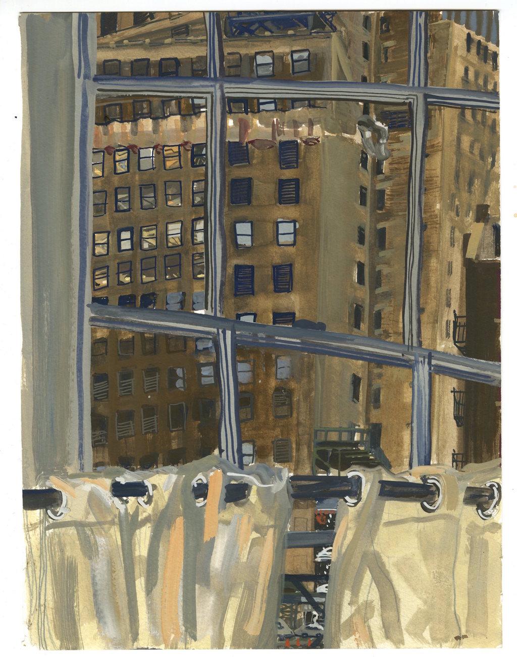 Lower Manhattan, Bedroom Window