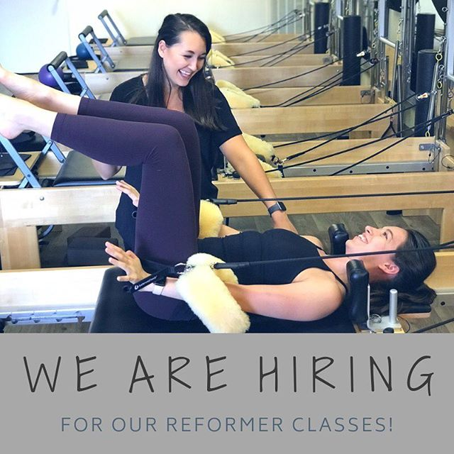 We are looking for Reformer Instructors! Teaching experience is a plus, but training available for those with no experience. Send your resume to hello@provisionstudio.com!