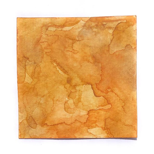 manilla envelope #HandmadeWatercolors  #100DaysOfColorMixing #YellowOchre #PyrroleOrange #MauveEarth #The100DayProject #LimnColors